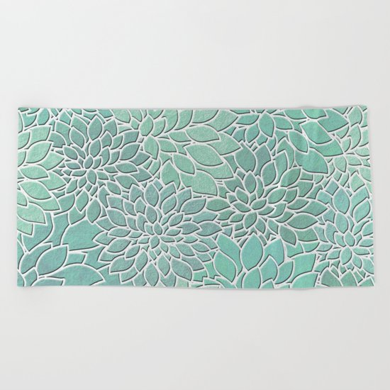 Floral Abstract 28 Beach Towel