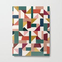 Tangram Wall Tiles 01 #society6 #pattern Metal Print