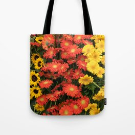 Sunflowers and Gerberas Tote Bag