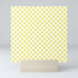 Yellow Small Polka Dots Mini Art Print