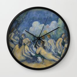 Cezanne Bathers Art Painting Wall Clock