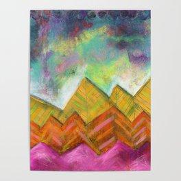 Autumn Mountain Peaks Poster