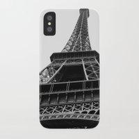 eiffel iPhone & iPod Cases featuring Eiffel by Angel Durán