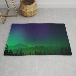 Aurora Synthwave #9 Rug