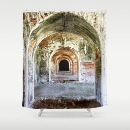 Arches of Fort Morgan Shower Curtain
