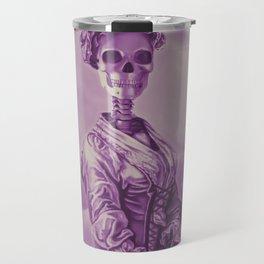 Lady Bonehead VINTAGE PURPLE / Skeleton portrait Travel Mug