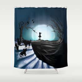 My Part to the Longest Illustration. Shower Curtain