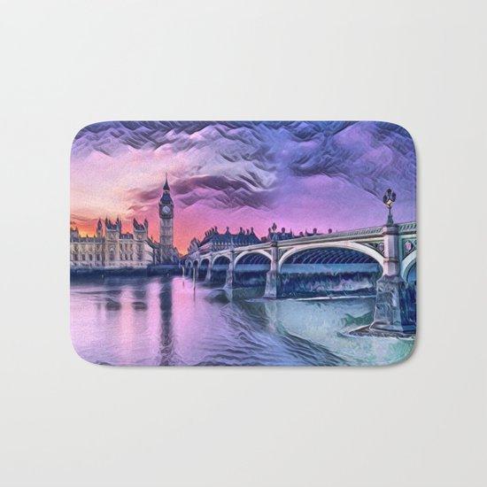 Big Ben with Sunset (London, England) Bath Mat