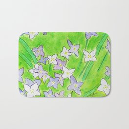 Innocence (Bluets, Quaker-Ladies) Bath Mat