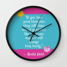 Good Thoughts - Roald Dahl Wall Clock