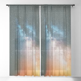 Milky Way Galaxy XII Sheer Curtain