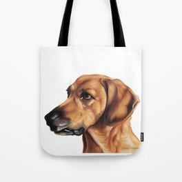Dog Artwork in coloured pencil Tote Bag