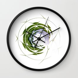 Olive Leaves in Circle Wall Clock