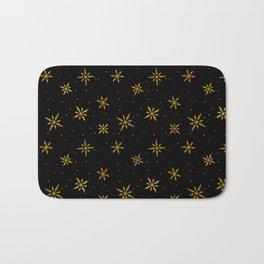 Nordic Snow - Gold Line (Dark) Bath Mat