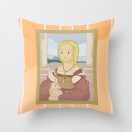Lady with Unicorn by Raphael Throw Pillow