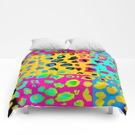 colorpop leopard Comforters