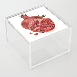 Pomegranates Illustration Acrylic Box
