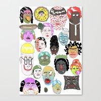 faces Canvas Prints featuring Faces by james clapham