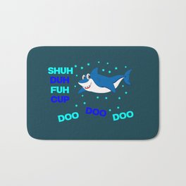 baby shark funny sarcastic annoying song. Bath Mat