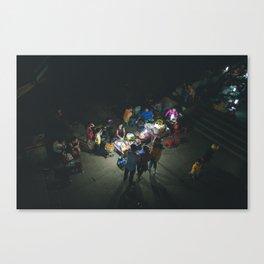 Vietnam Night Vendors Canvas Print