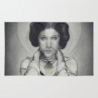princess leia Area & Throw Rugs featuring Star Wars Princess Leia by Alexandra Bastien