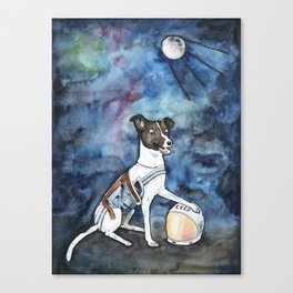 Our hero, Laika Canvas Print
