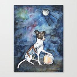 Our hero, Laika Canvas Print