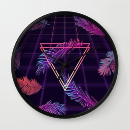 80's Retro Cyberpunk Synthwaves Dominating the Future Wall Clock