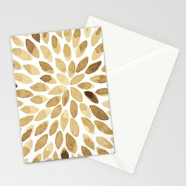 Watercolor brush strokes - neutral Stationery Cards