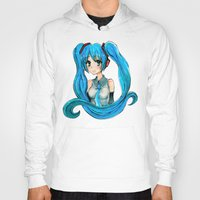 vocaloid Hoodies featuring Hatsune Miku by Tiffany Willis