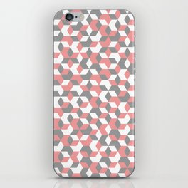 Hexagon(pink) #1 iPhone Skin