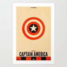 Captain America (Variant) Art Print
