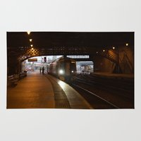 train Area & Throw Rugs featuring Train by RMK Creative