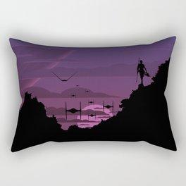 Twilight Of Darkness PURPLE Rectangular Pillow