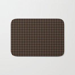 Mini Black and Brown Coffee Cowboy Buffalo Check Bath Mat