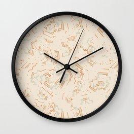 Modern African Zig-Zag Print Wall Clock