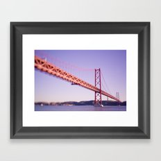 Red Bridge Framed Art Print