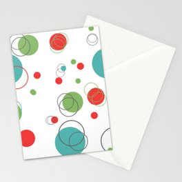 Mid Century MCM Dots Stationery Cards