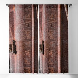 Rusted Farmall Red Tractor Caroded Rusty Side Panel Blackout Curtain