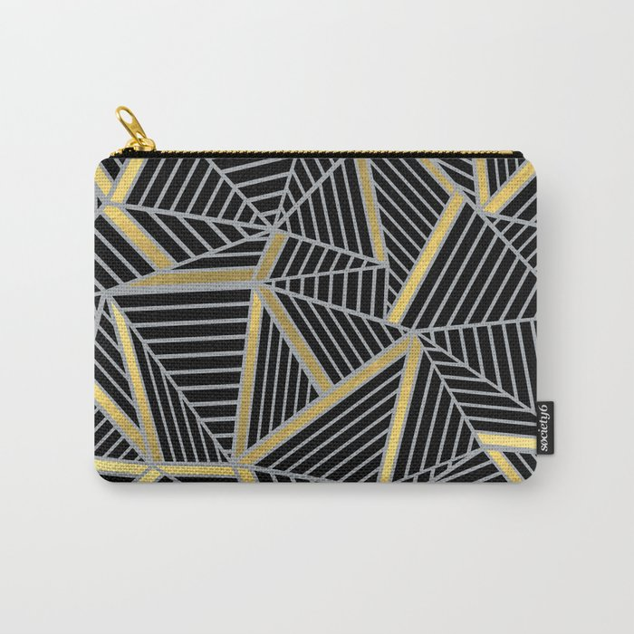 Ab 2 Silver and Gold Carry-All Pouch