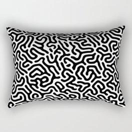 Black and White Organic MAZE Pattern Rectangular Pillow