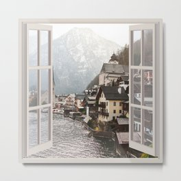 Austrian Village | OPEN WINDOW ART Metal Print