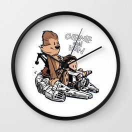 chewie and han Wall Clock