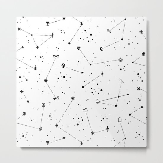 Constellations (White) Metal Print