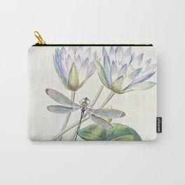 lotus and dragonfly Carry-All Pouch