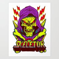 skeletor Art Prints featuring skeletor by Vincent Trinidad