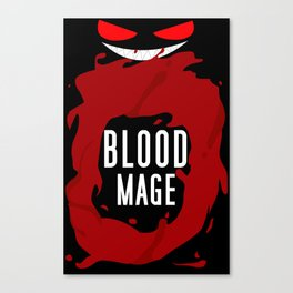 Blood Mage Splash Canvas Print