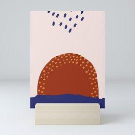 Sunset and purple Mini Art Print