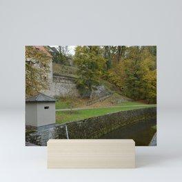 Castle moat around the Czech city of Krumlov Mini Art Print
