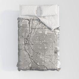 Denver White Map Comforters